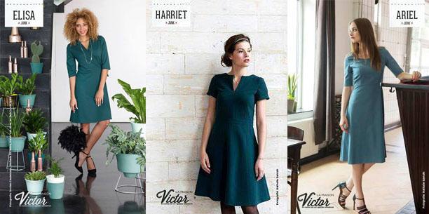Drie jurken La Maison Victor