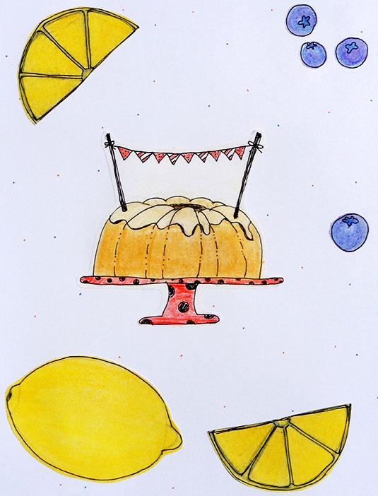 Foto cake tekening