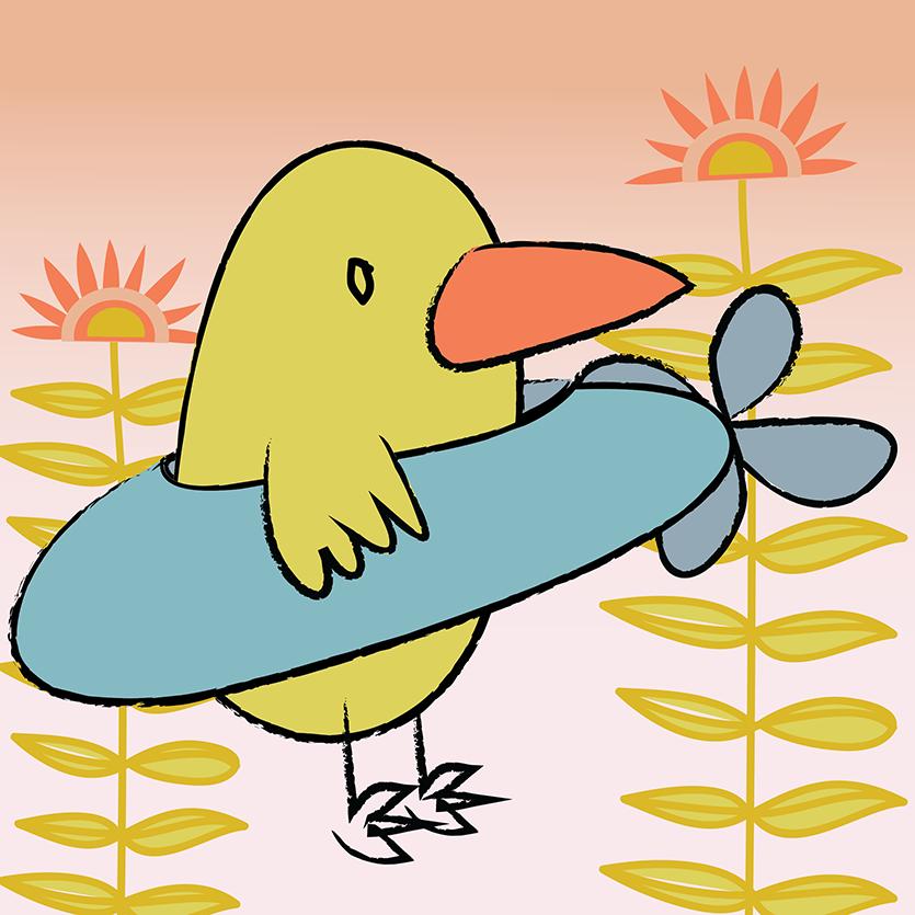 vliegende-vogel-zonder-textuurweb
